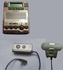 Sony Portable Recorder MZ-B100 & 5 Minidiscs ECM-719 Microphone RM-MZB10 Remote