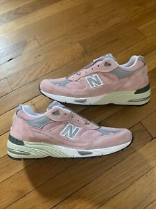 New Balance 991 M991PNK Pink Suede Made In England Men's Size 10.5