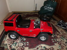 Ride on Red Hummer H2 ride on kids car 3 1.5V batteries