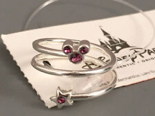 NWT Disney Parks Mickey Mouse Birthstone Ring Adjustable w/Crystals PURPLE