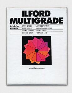 Set 12 Filtri Ilford  Multigrade per bianco e nero - Filter black and white