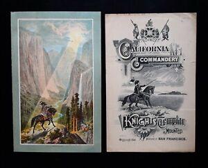Knight Templars San Francisco Conclave Programs Crocker Lithography 1883-92