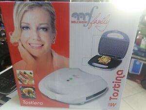 Melchioni family  mini TOSTAPANE Bistecchiera piastra rigata termostato 750Watt