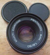 PENTACON auto 50mm F1.8 MULTI COATING M42 screw mount prime lens + caps