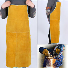 Cow Leather Welding Apron Heat Insulation Welder Body Protection Clothing Gear
