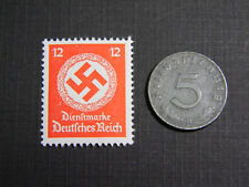 Rare WW2 German 1 Reichspfennig Coin World War Two WW2 with Scarce Red Stamp