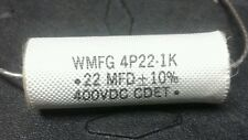 Audiophile Poly Film Capacitor, CDET, 230C,.22uF 400v 10%,Axial, 1 Pcs (each)