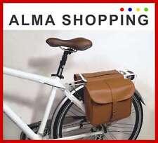 Borsa posteriore per bici bicicletta al portapacchi eco pelle marrone 01041