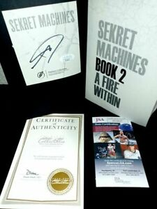 BLINK 182 Tom Delonge Signed Book Sekret Machines (2) COAs JSA Certificate