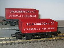 2 Lima OO Gauge JK Harrison 12 Ton 7 Plank Open Wagons