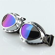 Retro Vintage Goggles Scooter Pilot Aviator Eyewear for Harley Cruiser Cafe BMX