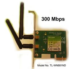 Wlan Adaptateur pci-e 300mb tp-link tl-wn881nd wi-fi 802.11b/g 2 antenne amovible