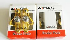 Aican Road bike brake Super Light holder shoes catridge fit Shimano, Gold, 2 pc