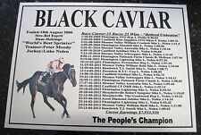 BLACK CAVIAR BIG Retirement 25 Wins Plaque 190mmx140mm Retired Unbeaten