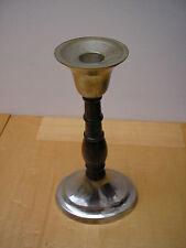 Qualità candeliere placcato argento con stelo in legno alta 21.5 cm