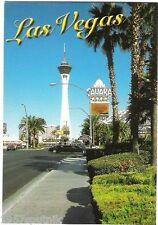 Sahara Hotel Casino Stratosphere Postcard Las Vegas Souvenir nos Closed gone f