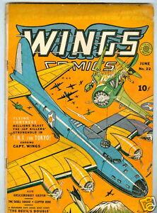 Wings #22 June 1942 G/VG WWII
