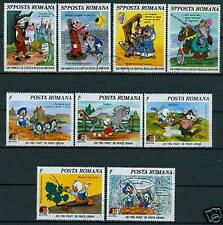 Rumänien 1985 Mi.4209-17@ Walt-Disney-Figuren,Mark Twain    Mi.40€