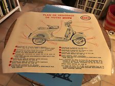 Affiche Vespa Acma Graissage Esso Vintage 80x100 cm