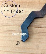 Micro cut Custom logo Goose Neck STEEL stamp Bent metal iron JEWELRY hammer tool