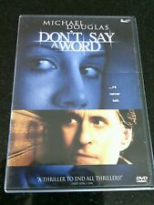 Don't Say a Word DVD Thriller Movie Michael Douglas Sean Bean Film Pizza Night