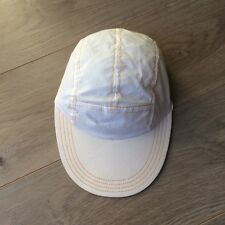 RARE Long Brim 80's Estee Lauder Sun Beach Unisex Hat elastic back One Size USA