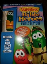 Veggie Tales: Bible Heroes Triple Feature (DVD, 2013, With Toy) NEW AND SEALED