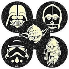 10 Star Wars Glow in the Dark Stickers Party Favors Yoda Darth Vadar Halloween