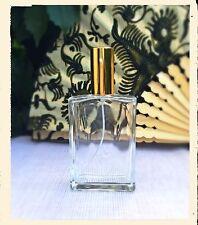 3 Parfum Flakons - leer - rechteckige Form - 100 ml gold - nachfüllbar - NEU