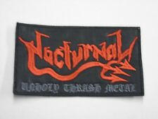 NOCTURNAL UNHOLY THRASH METAL EMBROIDERED PATCH