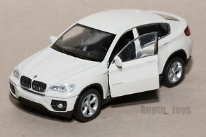BMW X6 White, Welly scale 1:34-39, model toy car gift
