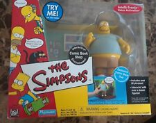 NIB 2001 The Simpsons Interactive Comic Book Guy w/ Shop Environment Action Fig