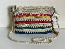 THE SAK HAND-CROCHETED CASUAL CLASSICS 3-IN-1 DEMI CROSSBODY CLUTCH BAG $69 SALE