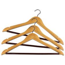 3er Set Kleiderbügel aus Holz Garderobenbügel Holzbügel Holzkleiderbügel Bügel