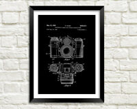 CAMERA PATENT PRINT: Photography Blueprint Poster in Black, White, Blue