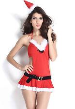 Sexy Women's Red Bedroom Fun Miss Santa Lingerie Fancy Dress Costume