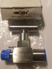 "NEEDLE VALVE 1/4"" MNPT x FNPT 316 STAINLESS 6000 PSI  BRAND NEW (QTY- 1)"
