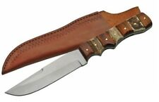 """Steel Stag Hunter Stag and Wood handle with sheath SS7019 9.5"""" Fixed Blade Knife"""