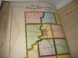 ILLUSTRATED HISTORICAL ATLAS OF VIGO COUNTY INDIANA 1874,TERRE HAUTE,(2 BOOKS)