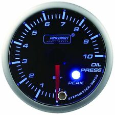 PROSPORT 52mm Premier Blue & Super White Led Oil Pressure Gauge BAR