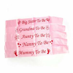 BABY SHOWER SASHES  Mummy to be  Nanny, Aunty & Big Sister & Grandma to be sash