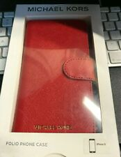 Original Micheal Kors Folio iPhone X and for iPhone Xs Case Red