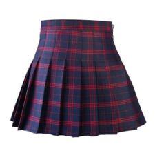 US Women Polyester Tennis High Waist Plaid Skater Pleated Short/Mini Skirt Dress