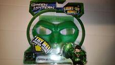 Green Lantern Hal Jordan Mask & Power Ring 2011 Prop Costume DC Comics torn pack