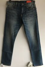 Jean Shop Jim Ajustados Lavados Orillo Denim de Superdry W33 L32 RRP £ 180