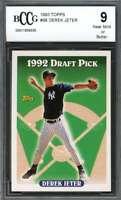 Derek Jeter Rookie Card 1993 Topps #98 New York Yankees BGS BCCG 9