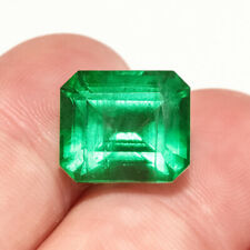 6.95Ct Colombian Emerald Octagon Collection Color Enhanced QMDa420