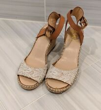 Vince Camuto Lace Espadrille Wedge Size 8