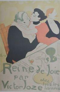 Henri de Toulouse - Lautrec, Queen of Pleasure ( Peine de Joie ) 1892. Large.