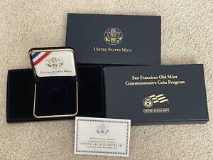 2006 San Francisco Old Mint $5 Gold UNC Commemorative Coin Box & COA (*NO COIN*)
